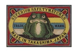 Superior Safety Matches Japanese Matchbox Label Giclee Print