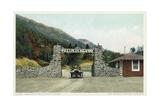 The Pike's Peak Auto Highway Postcard Giclee Print