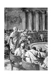 Illustration of Cicero Addressing Catiline in the Roman Senate Giclee Print