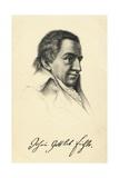 Portrait of Johann Gottlieb Fichte Giclee Print