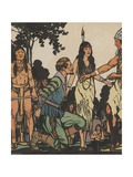 John Smith and Pocahontas Giclee Print