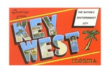 Greetings from Key West, Florida, the Nation's Southernmost City Giclee Print