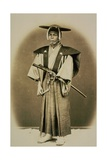 Samurai in Costume Giclee Print