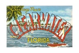 Greetings from Clearwater, Florida Giclee Print