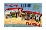 Greetings from Quaint Key West, Florida, the Southernmost City in the U.S. Giclee Print