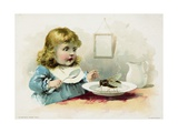 Woolson Spice Company Trade Card with a Fly in a Little Girl's Soup Giclee Print