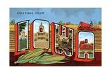 Greetings from Iowa Giclee Print