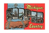 Greetings from the Michigan Copper Country Giclee Print