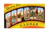 Greetings from Topeka, Kansas Giclee Print