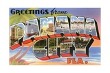 Greetings from Panama City, Florida Giclee Print