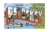 Greetings from Petoskey, Michigan Giclee Print