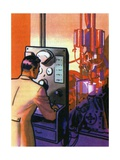 Oil Series: Company Chemist Finding New Uses for Oil Giclee Print