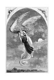 Illustration of Saint Patrick Being Carried to Rome by an Angel Giclee Print