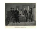 Surrender of General Lee Illustration Giclee Print
