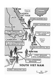 Map Showing Divisions in the Vietnam War Giclee Print