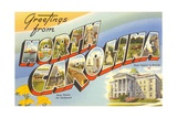 Greetings from North Carolina Giclee Print