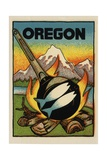 Oregon Travel Decal Giclee Print