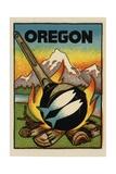 Oregon Travel Decal Giclee Print