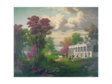 George Washington Arriving at Mount Vernon Giclee Print