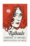 Redheads Matchbox Label Giclee Print