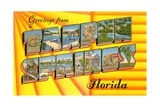 Greetings from Tarpon Springs, Florida Giclee Print