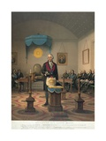 George Washington at Meeting of Masonic Lodge Giclee Print