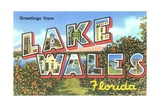 Greetings from Lake Wales, Florida Giclee Print
