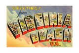 Greetings from Virginia Beach, Virginia Giclee Print