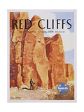 Red Cliffs Poster Giclee Print