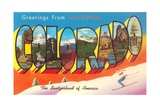 Greetings from Colorful Colorado, the Switzerland of America Giclee Print