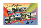 Greetings from Lake George, New York Giclee Print