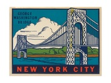 George Washington Bridge Travel Decal Giclee Print