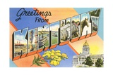 Greetings from Kentucky Giclee Print