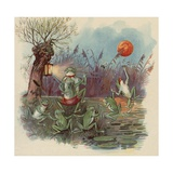 Frogs Dancing in Moonlight Giclee Print