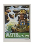 Water for Health Poster Giclee Print