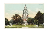 State Capitol, Annapolis, MD Postcard Giclee Print