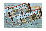 Greetings from Corpus Christi, Texas, Wonder City of the South Giclee Print