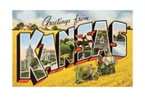 Greetings from Kansas Giclee Print