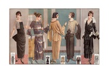 Women Modeling 1920's French Fashion Giclee Print