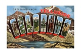 Greetings from Telluride, Colorado Giclee Print