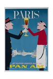 Paris Travel Poster Giclee Print