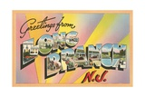 Greetings from Long Branch, New Jersey Giclee Print