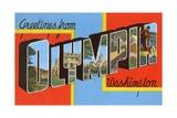 Greetings from Olympia, Washington Giclee Print