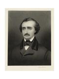 Portrait of Edgar Allan Poe Giclee Print