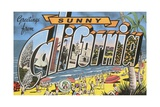 Greetings from Sunny California Giclee Print