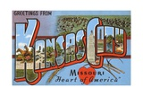 Greetings from Kansas City, Missouri, Heart of America Giclee Print