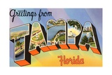 Greetings from Tampa, Florida Giclee Print