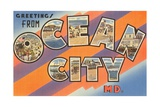 Greetings from Ocean City, Maryland Giclee Print