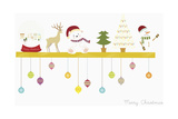 The Christmas Decorations on the Shelf Giclee Print