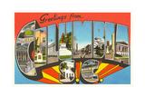 Greetings from Columbia, South Carolina Giclée-Druck